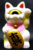 Fortune Cat Baby ( white molding )