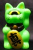 Fortune Cat Baby ( fluorescent green )