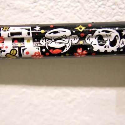 Ninja_monkey_katana-jerome_lu-acrylic_spray_paint_epoxy_clay_found_objects_and_gold_leaf-trampt-214379m