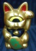 Fortune Cat / ( gold / oval = MidoriShinatama )