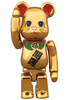 BE@RBRICK beckoning cat gold-plated participate 100%