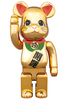 400% Beckoning Cat Gold-plated Participate Be@rbrick