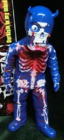 Tokyo_gurentai_skull_man_kai_ju_blue__blue_molding__blood_splash-balzac-skullman-secret_base-trampt-220911m