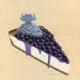 Super Cheesy Star Destroyer Blueberry Cheesecake