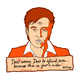 Bill Hicks 'TEACHER' Mini Print 'It's just a ride…'  - ORANGE CREAM