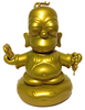"""3"""" Gold Homer Buddah"""
