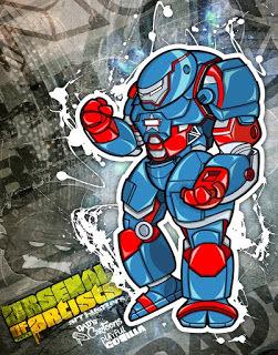 Iron_patriot_buster-dads_cartoons_playful_gorilla-mixed_media-trampt-237001m