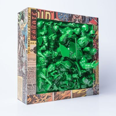 Resin_collage_-_green-killer_bootlegs_wizard_cleave-resin_collage-self-produced-trampt-241257m