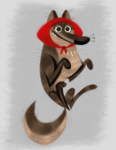 Little_red_riding_wolf_print-naomi_romero-watercolor__gouache-trampt-243574m