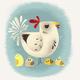 Chickens print