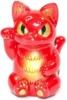 Unique Custom Red Gold Lucky Negora Kaiju Cat