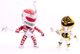 Mighty Morphin Power Rangers - Metallic Lord Zedd & White Ranger (2 Pack)