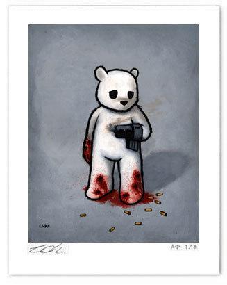 Bad_idea_bear_with_a_gun_hand-luke_chueh-gicle_digital_print-trampt-250323m