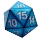 20 Sided XL Gaming Dice Blue Numbers