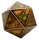 20 Sided XL Gaming Dice Gold