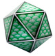 20 Sided XL Gaming Dice Green