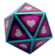 20 Sided XL Gaming Dice Hearts