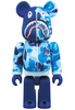BAPE (R) CAMO SHARK BE@RBRICK 100% - Blue