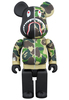BAPE (R) CAMO SHARK BE@RBRICK 400% - Green