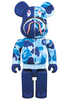 BAPE (R) CAMO SHARK BE@RBRICK 400% - Blue