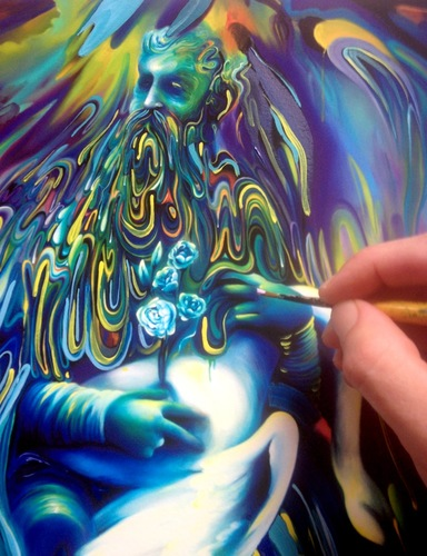 Accession_of_forebearer_hand_embellished_print-michael_page-gicle_digital_print-trampt-258080m