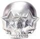 Star Skull - Metallic Silver