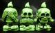 skeleton company 見ねぇ! 言わねぇ! It hears and cooks (yellowish green molding / black paint)