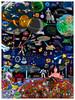 """8-Bit Pixels in Space"" Print"