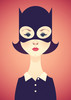 """""""Portrait of Thora Birch as Enid wearing a mask."""" Canvas Print"""
