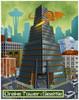 """""""Drake Tower: Seattle"""" Print"""