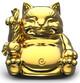 Maitreya Cat - Chrome Gold