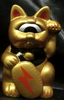 fortune cat baby (golden package / head origin / black / gold coin / thunder)
