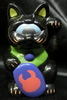 fortune cat baby (black molding / head origin / green / gold coin / UAMOU)