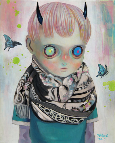 Koku_no_kodomo_kuorage_chochildren_of_emptiness_the_black_swallowtail_butterfly-hikari_shimoda-oil-trampt-273626m