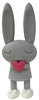 Valentine Bunnies - Grey