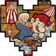 """Super Mario Donkey Kong Irezumi Game Child"" Wood Print"