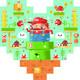 """""""Super Mario in Yema world"""" Wood Print"""