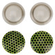 "Light Grey / Green RVS Bug Lenses (6"" Squadt)"