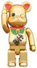 400% Be@brick Beckoning Cat Gold-Plated Winking