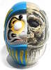Daruma Skull X-Ray Full Color Blue