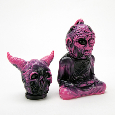 Alavaka_-_unpainted_neon_pink_and_black_marbled-devilboy_toby_dutkiewicz-alavaka-devils_head_product-trampt-281474m