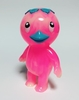Kappa Kid - Marbled clear neon pink and glow