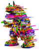 Blown Away Vincent Rainbow & Rainbow Glitter Jam