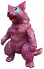 Kaiju King Negora Cat - Red Glitter
