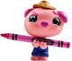 Crayola Coloring Critter - Hot Magenta Farmer Pig