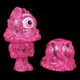 Zombie Mr. Melty and twofaced head - Marbled Pink
