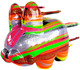 "5"" Blown Away Labbit - Rainbow"