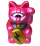 FORTUNE CAT BABY ( METALLIC PINK MOLDING / GOLD COIN = INAZUMA )
