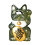 MINI FORTUNE CAT - CLEAR GREEN