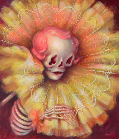 Death_songportrait_of_artists_mother_in_death-brandi_milne-acrylic-trampt-290565m